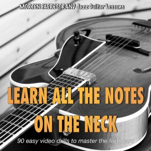 90 easy video drills that will teach you the name of all the notes on the guitar neck