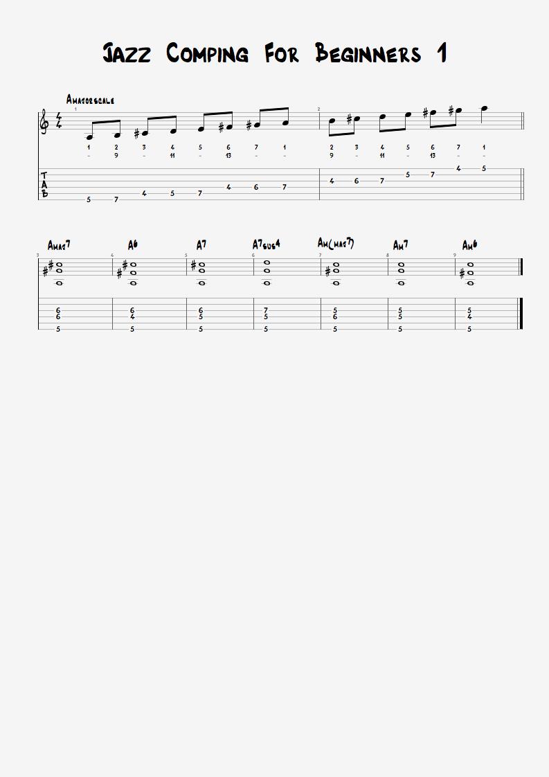 Jazz Comping For Beginners 1 Free Morten Faerestrand
